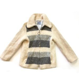 Vintage Eider Knit Icelandic Wool Cardigan Sweater